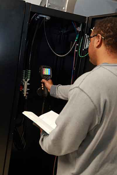Thermal imaging services for electrical systems are a standard method of testing for electrical safety. This is often required on an annual basis by insurance companies.